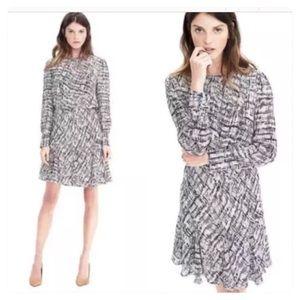 NWT Banana Republic Print Asymmetrical Pleat Dress